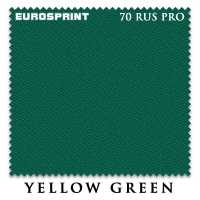 Бильярдное сукно Eurosprint 70 Rus Pro 198 см Yellow Green