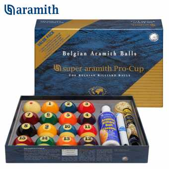 Бильярдные шары для пула Super Aramith Pro-Cup Value Pack Pool 57.2 мм