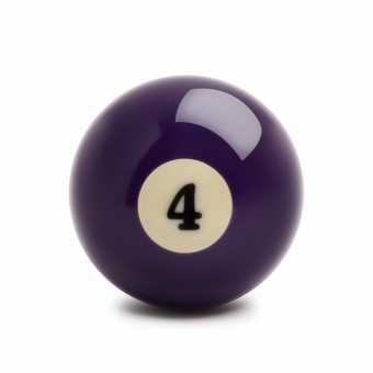Бильярдный шар №4 Standard Pool 57,2 мм
