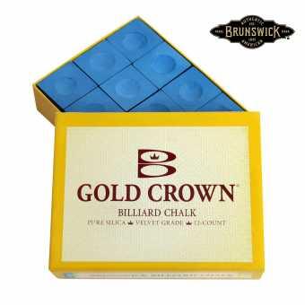 Бильярдный мел Brunswick Gold Crown 12 штук