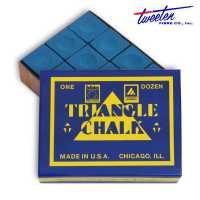 Бильярдный мел Triangle Blue 12 штук