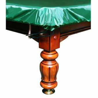 Бильярдное покрывало Стандарт 10 футов влагостойкое зеленое на резинке