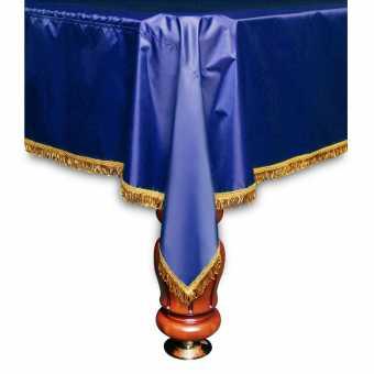 Бильярдное покрывало Элегант 8 футов синее желтая бахрома
