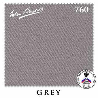 Бильярдное сукно Iwan Simonis 760 195 см Grey