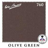 Бильярдное сукно Iwan Simonis 760 195 см Olive Green