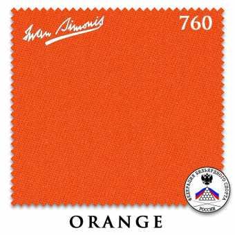 Бильярдное сукно Iwan Simonis 760 195 см Orange