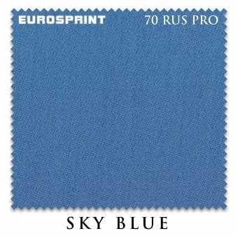 Бильярдное сукно Eurosprint 70 Rus Pro 198 см Sky Blue